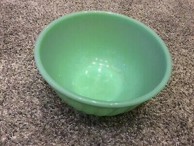 """Jadeite Fire-King Oven Ware Small 8"""" Swirl Mixing Bowl - Made In USA"""