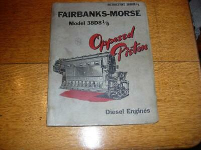 Vintage Fairbanks-Morse 38D8 1/8 Opposed Piston Diesel  Engine Manual