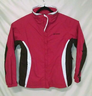 Columbia Women's Whirlibird Pink Brown Omni Tech Jacket Outer Shell Only Size XL