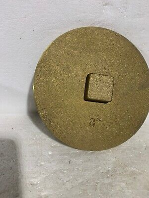 Pipe Plug - Raised Square Head.  Solid Brass Southern Style 8""