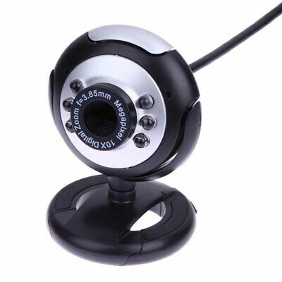 6 LEDs Light USB 2.0 WEBCAM CAMERA XP, VISTA, WINDOWS 7 10 SKYPE, YAHOO, MIC