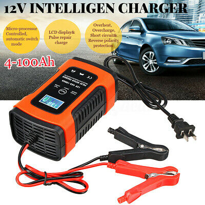 Car Battery Charger 12V 6A  Motorcycle Pulse Repair AGM GEL WET Lead Acid !