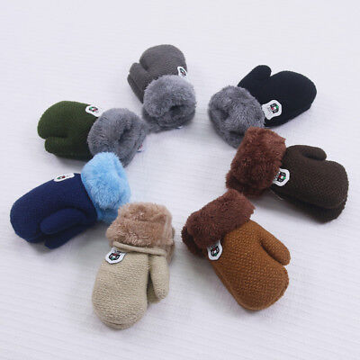 Newborn Baby Boy Girl Soft Gloves Warm Knitted Cashmere Gloves Cotton Mittens AU