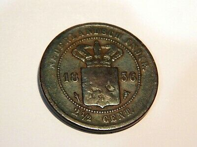 """1856"".2 1/2 Cent..Nederlands.""RARE"" .Excellent Condition..""L@@@K"""