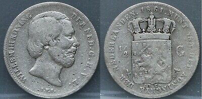 Nederland - The Netherlands - 1/2 gulden 1861 - halve gulden 1861