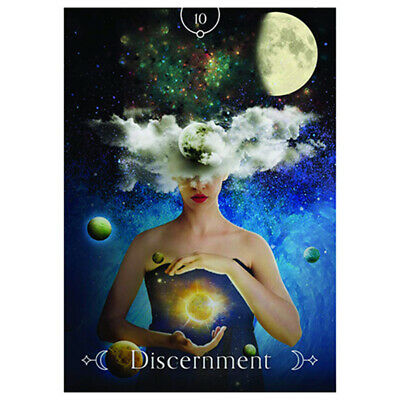 44pcs Queen of the Moon Oracle Cards Playing Board Game Oracle Cards 10*7cm