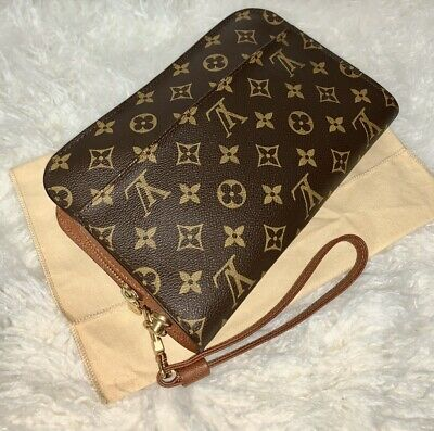 Louis Vuitton Orsay Classic Business Wristlet Clutch Bag w/Dustbag  ~ AUTHENTIC