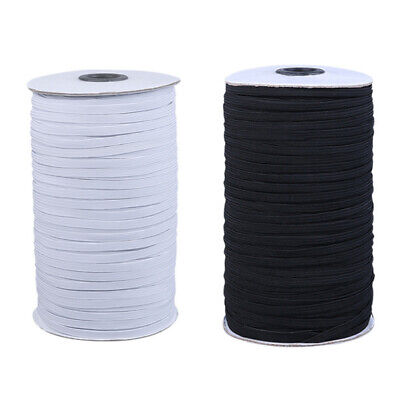 100 Yards Polyester Flat Elastic Cord Stretch Trims Sewing Crafts DIY Materials