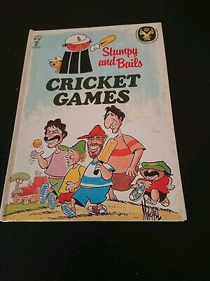 Vintage Cricket Book, Stumpy and Bails Cricket Games, Hardcover, 1981~ACB
