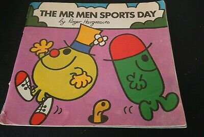Vintage Mr Men The Mr Men Sports Day Softcover Book~1977~Roger Hargreaves