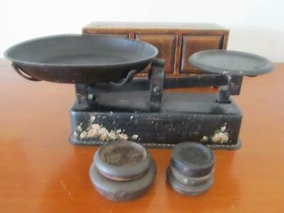 Antique Vintage Large KITCHEN SCALES with Tray & Weights