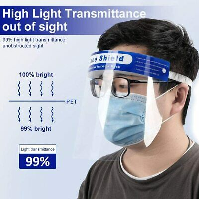 Lot Safe Anti-fog Full Face Shield With Clear Transparent Work Industry Dental