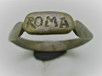 Detector Finds Ancient Roman Silver Ring With 'Roma' On Bezel