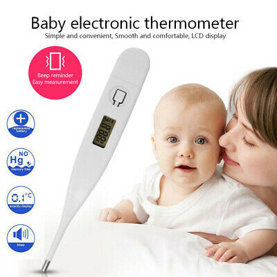 Baby Adult Digital LCD Thermometer Medical Body Kids Safe Ear Mouth Temperature
