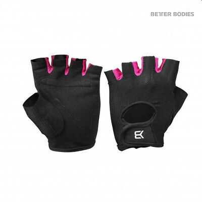 Better Bodies WOMENS TRAIN GLOVES BLACK/PINK SMALL