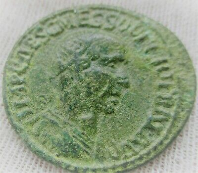 Unresearched Ancient Roman Bronze Sestertius Coin 6Grams 24Mm