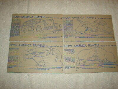 NABISCO - 1940's How America Travels - 36 Card Set - In Album VGC