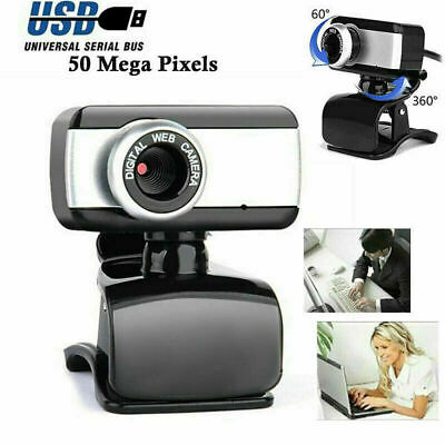 NEW 6 LED USB 2.0 WEBCAM CAMERA for MAC, XP, VISTA, WINDOWS 7 10 SKYPE, PORTABLE