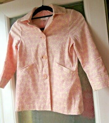 Next, Girls Pink Floral Coat, Cotton Rich, Lined, Age 7