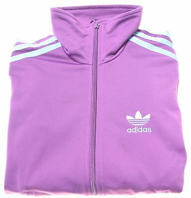 ADIDAS Girls Tracksuit Top Jacket 15-16 Years Purple Polyester  R005