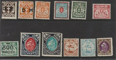 {Old 126} Germany Danzig Stamps From A Collection  Lot 2