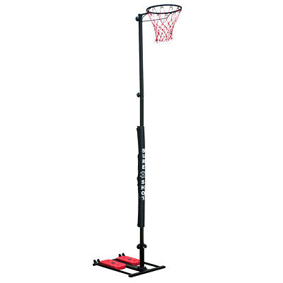 Sure Shot 10ft (3.05 m) Easistore Netball Goal in Black/Red with Padding