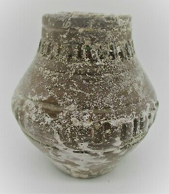 Ancient Greek Decorated Terracotta Vessel Storage Jar Ca 300-400Ad
