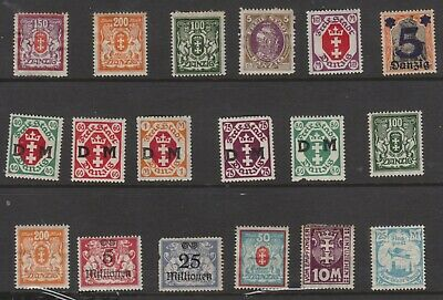 {Old 129} Germany Danzig Stamps From A Collection  Lot 5