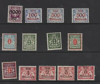 {Old 130} Germany Danzig Stamps From A Collection  Lot 6