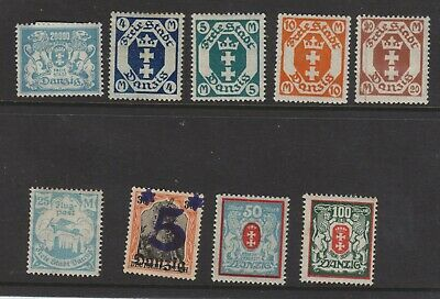 {Old 132} Germany Danzig Stamps From A Collection  Lot 8
