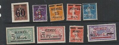 {Old 134) Germany Memel Stamps From A Collection