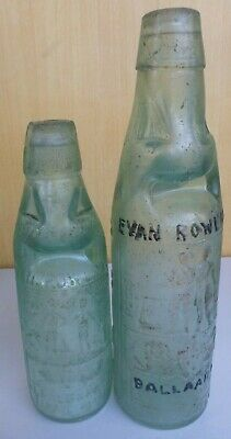 1900s pair of codds - ROWLANDS 3 WAY POUR BALLARAT, SYDNEY etc miner and farmer