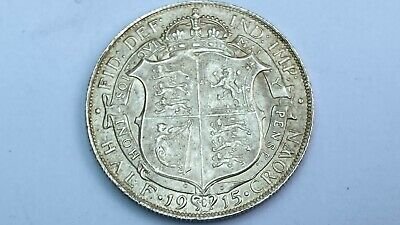 1915 Sterling silver Half crown - George V Collectable Grade British coin