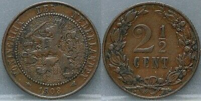 Nederland - The Netherlands 2 1/2 cent 1903 -  2,5 cent 1903