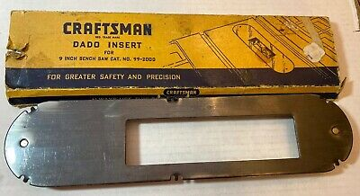 """Dado Insert for Craftsman 9"""" Table Saw - 1 5/8"""" X 6 3/8"""" opening  #99-2000"""