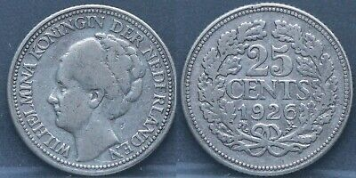 Nederland - The Netherlands - 25 cent 1926