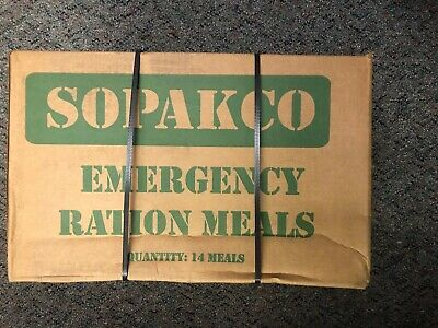 Sopakco Case of 14 MRE Meals Ready To Eat Emergency Long Term Food Rations