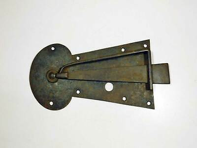 Very Large Original Old Wrought Iron Keyhole Plate Latch As Is Missing Parts