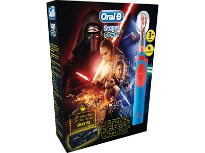 Pack dental - Cepillo Eléctrico Oral-B Stages Power Vitality, Diseño Star Wars