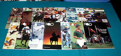 "Lot of 15 : POLO : Magazine ""THE GAME of KINGS"" Equestrian HORSE @ Vintage 1980s"