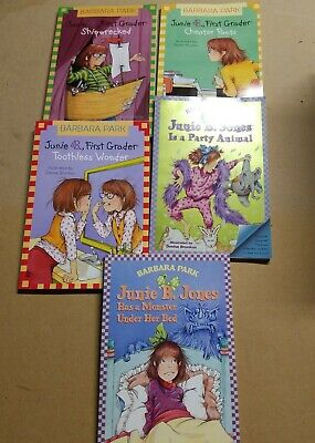 5 Pack Bundle Of Junie B Jones Home school Library Children's Chapter