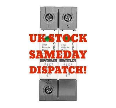 Type 2 Surge Protective Device SPD 40kA DP Consumer Unit Din Rail Retrofit 275V