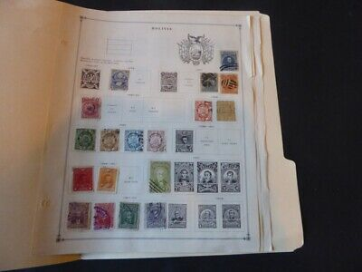 Bolivia Extensive 1878-1940 Mint/Used Stamp Collection on Album Pages