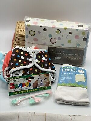 Thirsties Brand Cloth Diaper Lot NEW