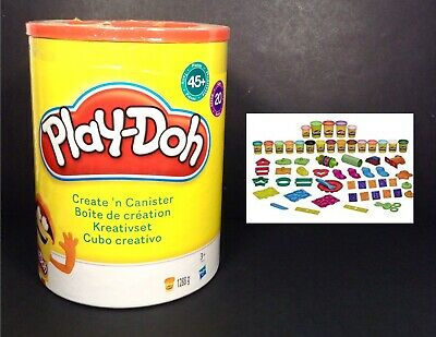 Play-Doh Create N Canister Bucket 45 Piece 20 Tubs Creative Toys Age 3+ NEW