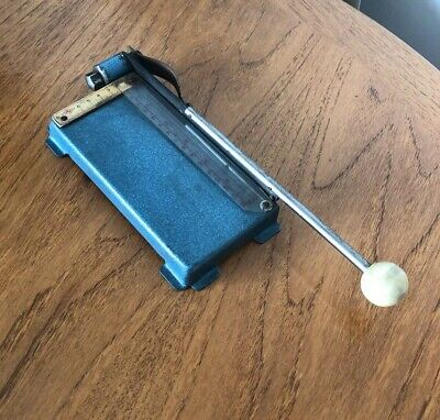 Vintage Small German Suisis Photography Photograph Guillotine Trimmer 1950s