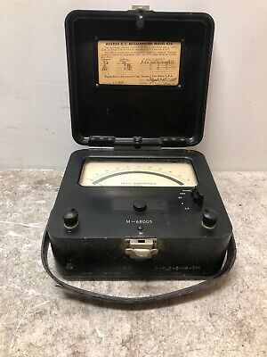 Vintage Weston Electric Instrument Model 622 DC Volt D.C. Milli-voltmeter 1943