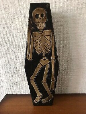 Hand carved wooden coffin box