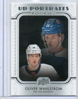 Oliver Wahlstrom 2019-20 Upper Deck Series 2 UD Portraits Rookies #P-84