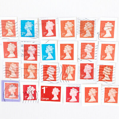 GB - UK Forgeries Franked Security Stamps Fakes Counterfeit 1st 2nd Class A390